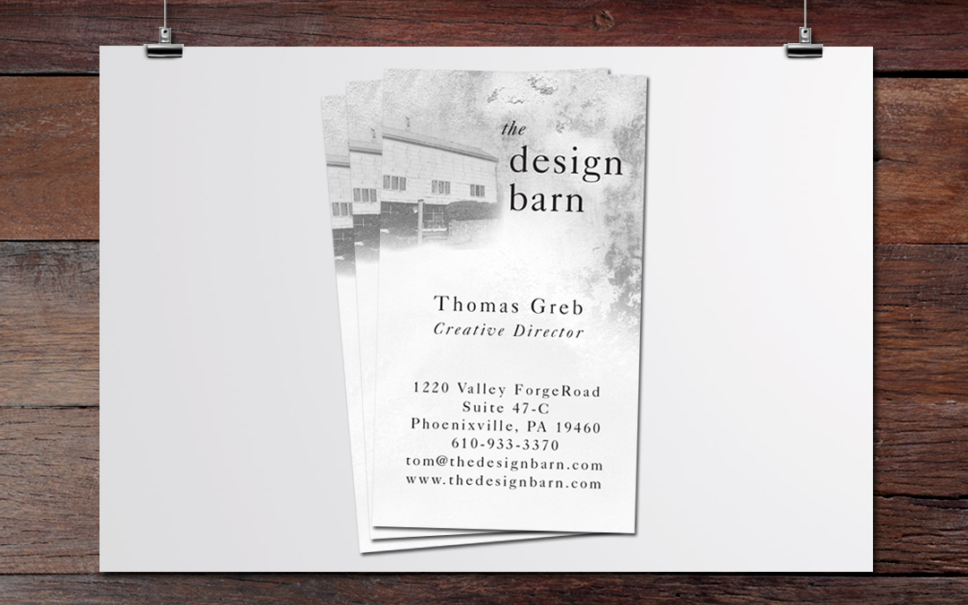 design barn business card